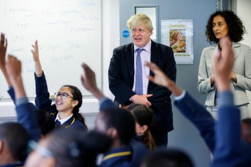 He stands corrected: Boris Johnson thought he knew his Roman history until a pupil at Michaela pointed out he had made a mistake with a dateLONDON NEWS PICTURES